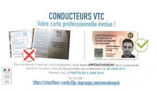 Campagne de sécurisation des cartes professionnelles de conducteurs VTC