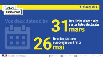 Élections Européennes du 26 mai 2019  : Inscriptions sur les listes électorales