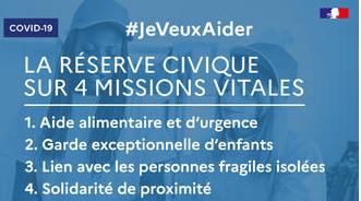 #Je veux aider ! Covid-19 – mobilisation générale des solidarités