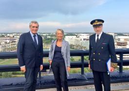 Elisabeth Borne, Ministre chargée des Transports en visite officielle à Montpellier