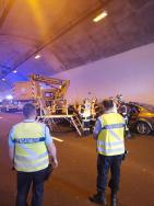 EXERCICE - Simulation d'un accident dans le tunnel du Pas de l'Escalette (autoroute A75)