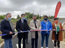 Inauguration de la voie verte reliant Mauguio à Valergues en présence du préfet de l'Hérault