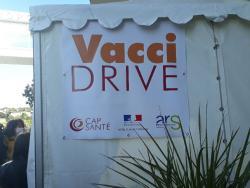 Inauguration du premier Vaccidrive de France à la clinique Saint Jean - Sud de France dans l'Hérault