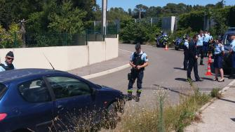 Le directeur de Cabinet du préfet de l'Hérault, aux cotés de l'EDSR pour un nouvel contrôle routier