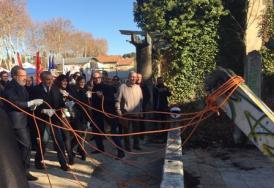 Le préfet de l'Hérault  à la dépose de  la première pierre du Conservatoire à rayonnement régional