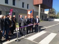 Pierre Pouëssel, préfet de l'Hérault, participe à l'inauguration du siège social d'Hérault Habitat.