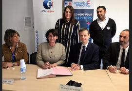 Signature du premier emploi franc de l'Hérault