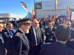 Stéphane Travert, ministre de l'Agriculture et de l'Alimentation, en visite dans l'Hérault