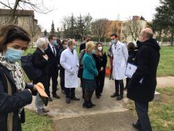 Visite de la Ministre déléguée auprès  ministre des Solidarités et de la Santé, chargée l'Autonomie
